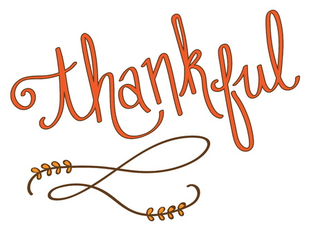 Thankful Lettering vector