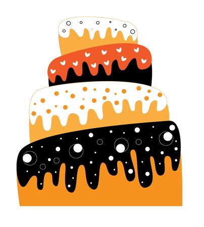 Happy Halloween Cake 向量圖像