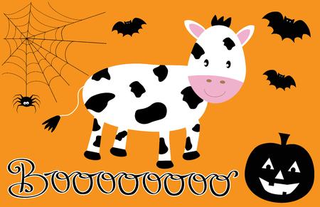 Happy Halloween Cow vector