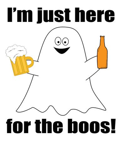Happy Halloween Ghost Boos vector Stock Illustratie