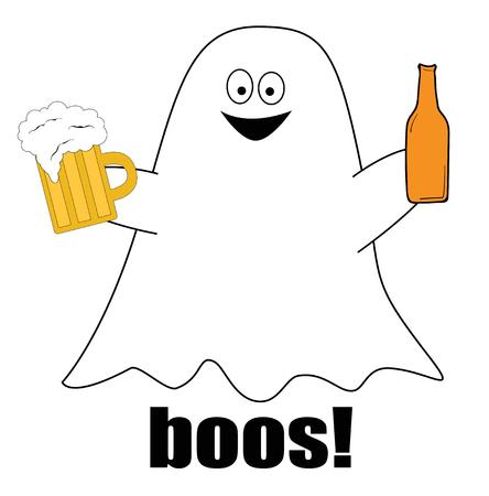 Happy Halloween Ghost vector