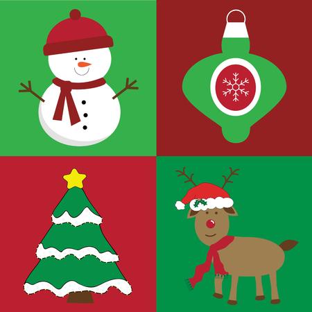Merry Christmas Items illustration.  イラスト・ベクター素材