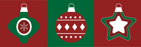 Merry Christmas Ornaments illustration.