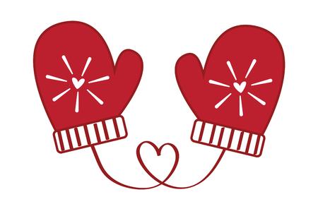 Love Heart Christmas MIttens
