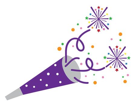 New Years Blower Illustration
