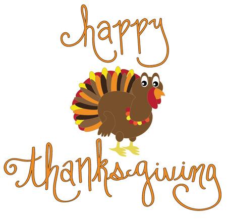 Happy Thanksgiving Turkey Illustration