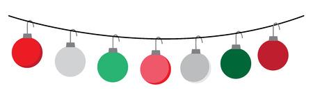 Merry Christmas Ornaments Illustration