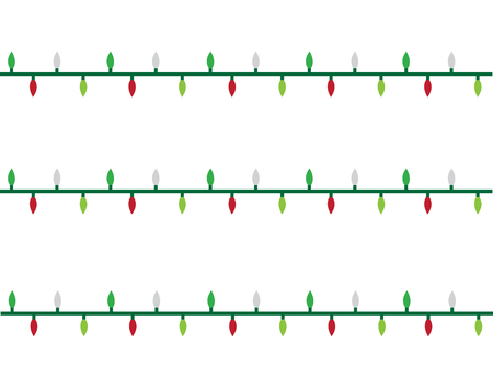 christmas lights strand illustration on white background stock vector 92994494