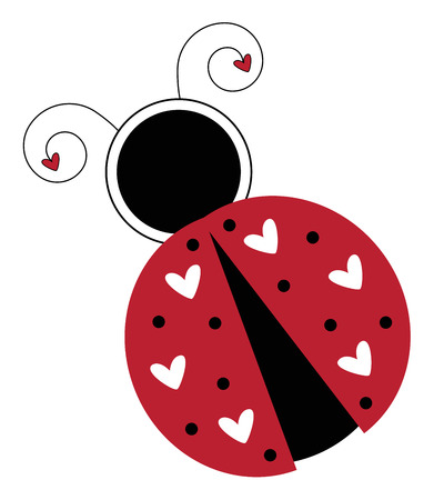 Isolated Valentines Day Ladybug