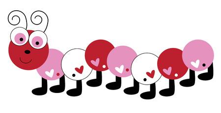 Love Heart Valentines Caterpillar Reklamní fotografie - 92993908
