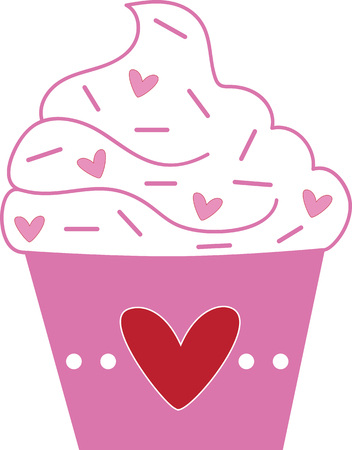 Love Heart Valentines Cupcake Banque d'images - 92993939