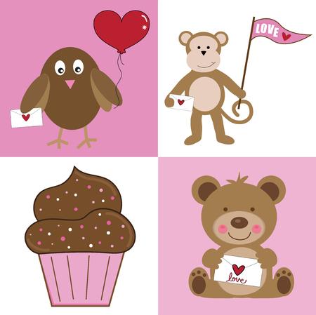 Happy Valentines Day illustration.