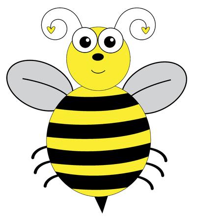Cute Insect Bumblebee Illusztráció