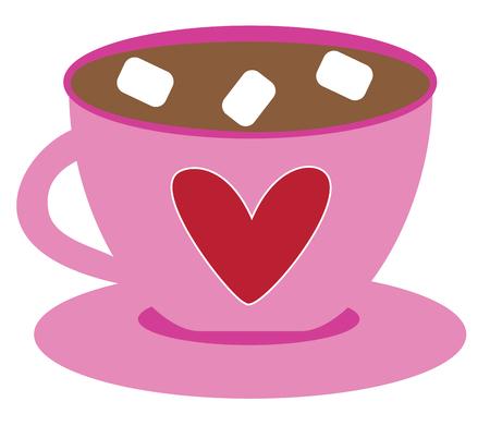 Love Heart Coffee Illustration