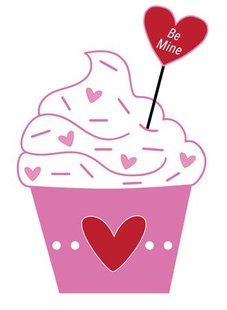 Be Mine Valentines Cupcake