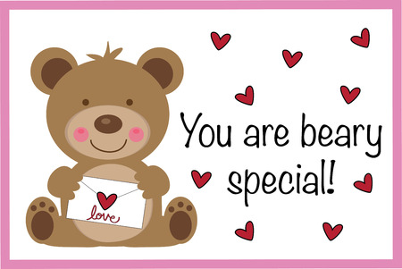 You Are Beary Special Valentine Vector illustration.