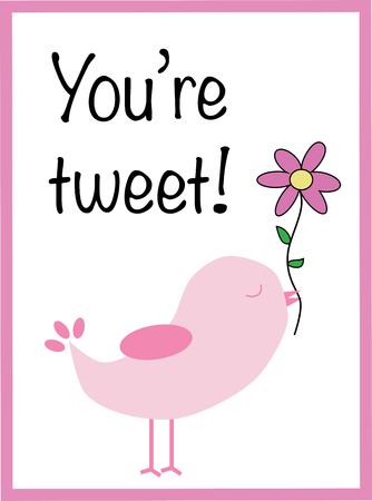 You Are Tweet Valentine Vector illustration.