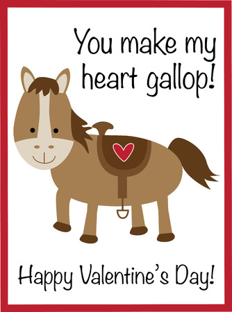 You Make My Heart Gallop Valentine
