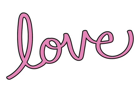 Valentines Day Love Lettering