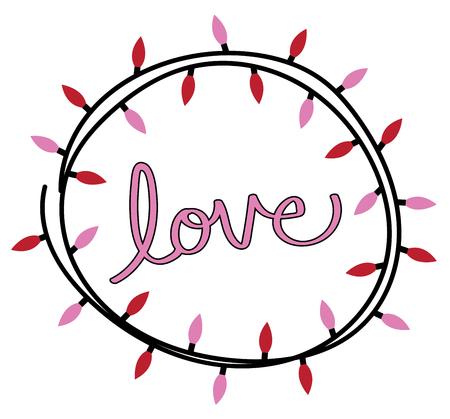 Happy Valentines Day Lights