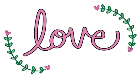 Happy Valentines Day Lettering 向量圖像