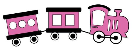 Pink and Black Train Фото со стока - 95445176