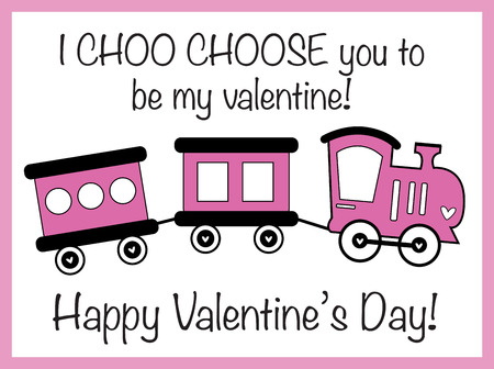 I Choo Choose You Valentine Фото со стока - 95445177