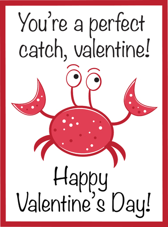 Happy Valentines Day Crab