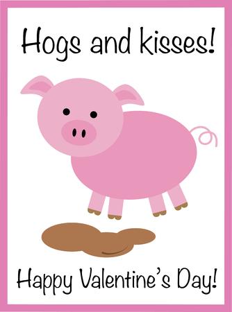 Happy Valentines Day Pig