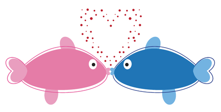 Fish in Love Фото со стока - 95445187