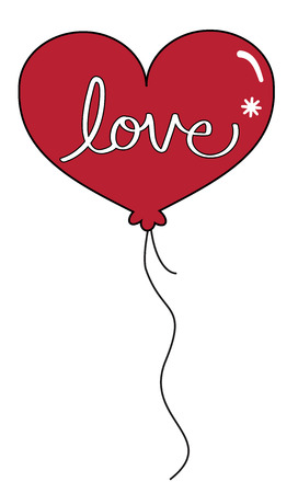 Valentines Day Red Balloon