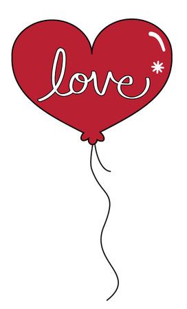 Valentines Day Red Balloon Фото со стока - 95445189