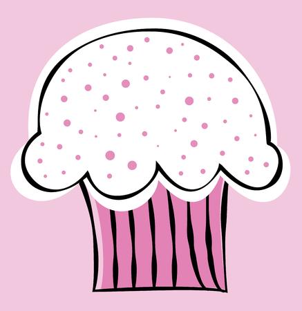 Pink Valentines Day Cupcake Фото со стока - 95445194
