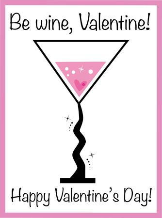 Be Wine Valentine Фото со стока - 95445286