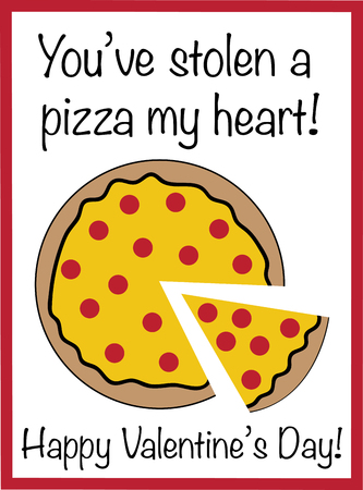 You Have Stolen a Pizza my Heart Фото со стока - 95445287