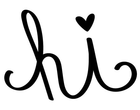 Hi Calligraphy Lettering 向量圖像