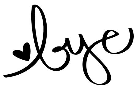Bye Calligraphy Lettering Vettoriali