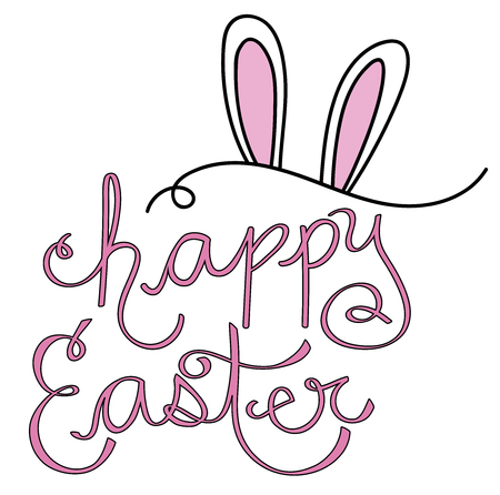 Happy Easter Lettering Фото со стока - 98428625