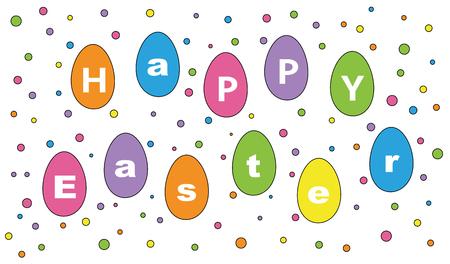 Happy Easter Eggs Фото со стока - 98267393