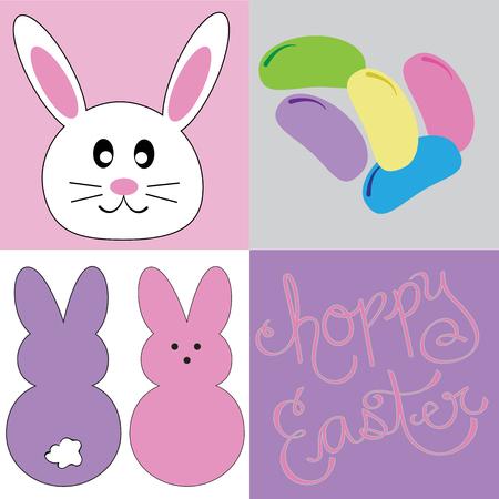Happy Easter Bunny Jelly Beans Фото со стока - 98428857