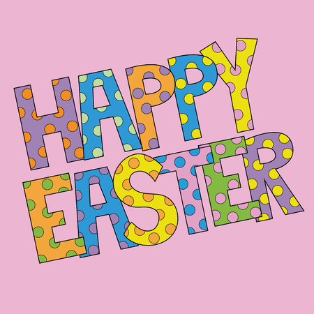 Happy Easter Letters Иллюстрация