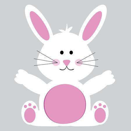 행복한 부활절 토끼