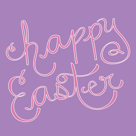 Happy Easter Lettering Фото со стока - 98428863