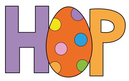 Happy Easter Hop Egg 向量圖像