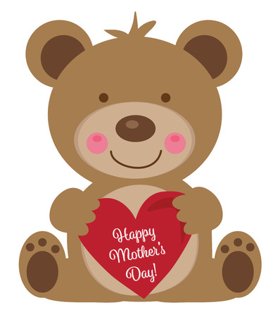 Happy Mothers Day Bear Фото со стока - 99478706
