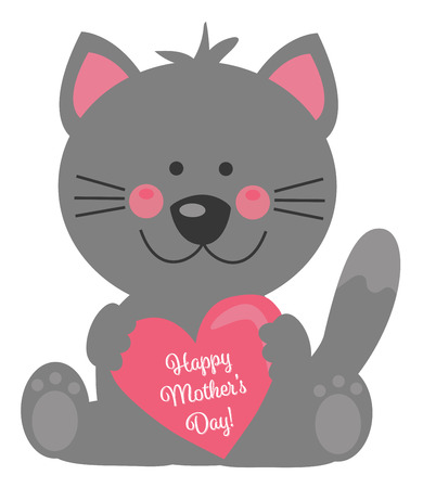 Happy Mothers Day Cat 版權商用圖片 - 99478709