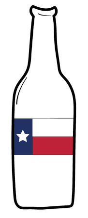 Texas Flag Beer Иллюстрация