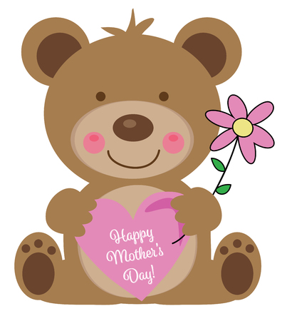 Happy Mothers Day Bear Фото со стока - 100020900