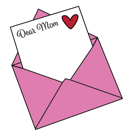 Happy Mothers Day Letter Иллюстрация