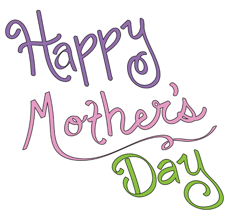Happy Mothers Day Lettering Фото со стока - 100020901